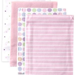 Luvable Friends 4-Pack Flannel Receiving Blankets